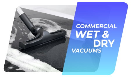 Commercial wet and dry vacuum cleaners