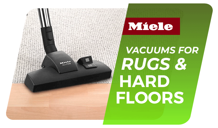 Vacuum cleaner that works with carpet rugs and hardfloor