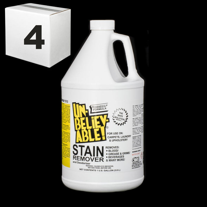 SJ139CS-4 UNBELIEVABLE STAIN REMOVER GALLON MUTLI PURPOSE - PACKAGE OF 4