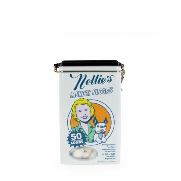 NELLIE'S LAUNDRY NUGGETS - 50 LOAD TIN