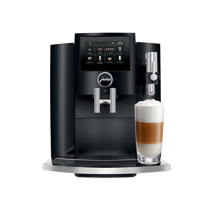 Jura S8 Super Automatic Coffee Machine - Piano Black