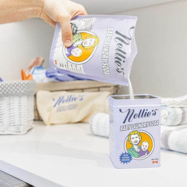 NELLIE'S BABY LAUNDRY SODA - 80 LOAD TIN