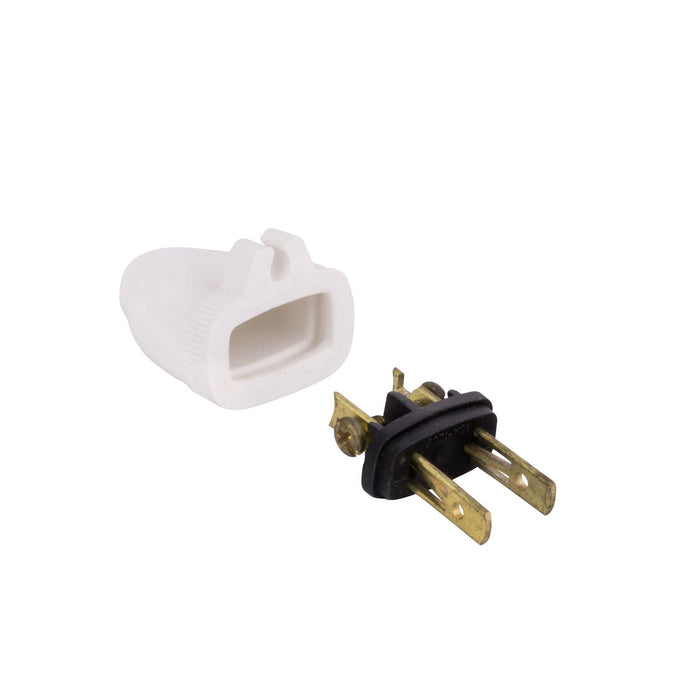 P200W 2 WIRE MALE PLUG WITH GRIP WHITE