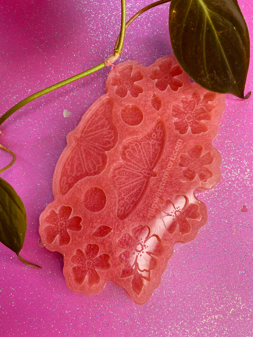 Botanical monarch multi earring silicone mould - supplies