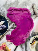 Load image into Gallery viewer, Crescent moon, butterfly and floral wall hanging silicone mould - supplies