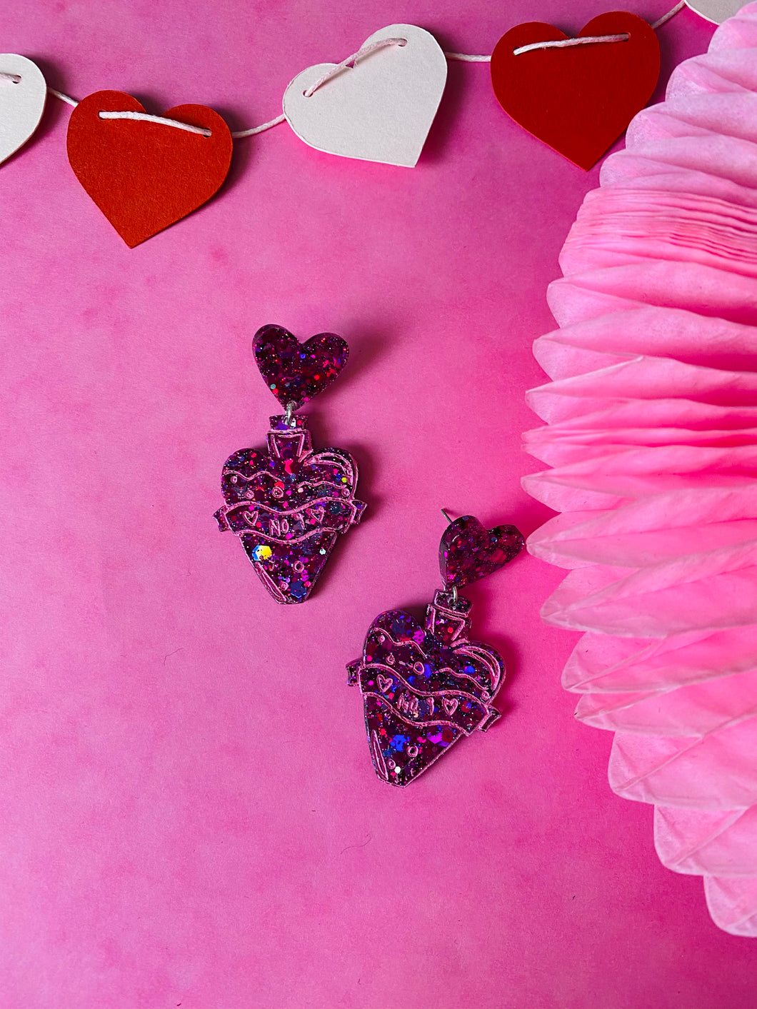 Love potion number 9 earrings VDAY collection.