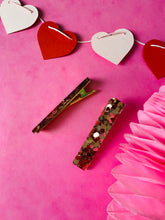 Load image into Gallery viewer, Rose gold heart clips VDAY collection.
