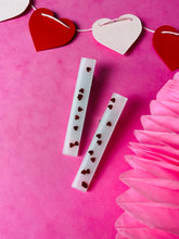 Load image into Gallery viewer, Pink heart clips VDAY collection.