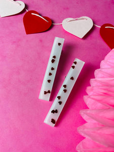 Pink heart clips VDAY collection.