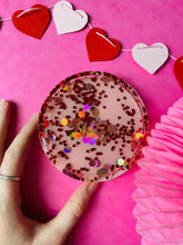 Load image into Gallery viewer, Heart confetti trinket tray VDAY collection.