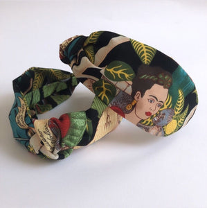 Frida Kahlo fabric knotted headband