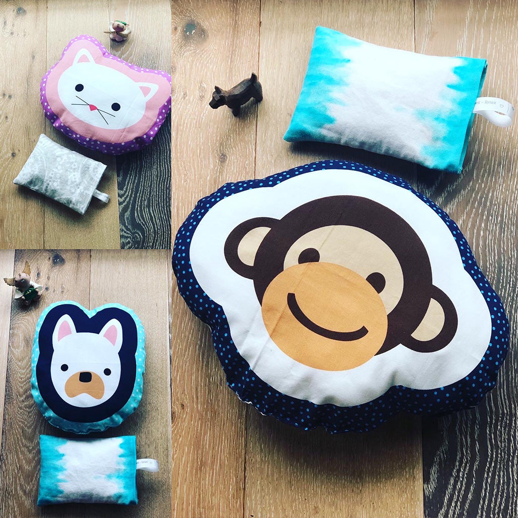 Kids Set // Monkey Pillow + relaxing pad