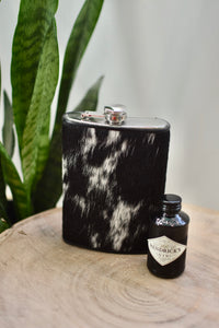 Black and White 12oz Flask