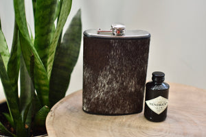 Black and White Speckled 12oz Flask