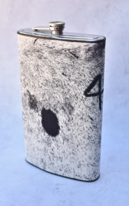 Grey and White Gallon Flask