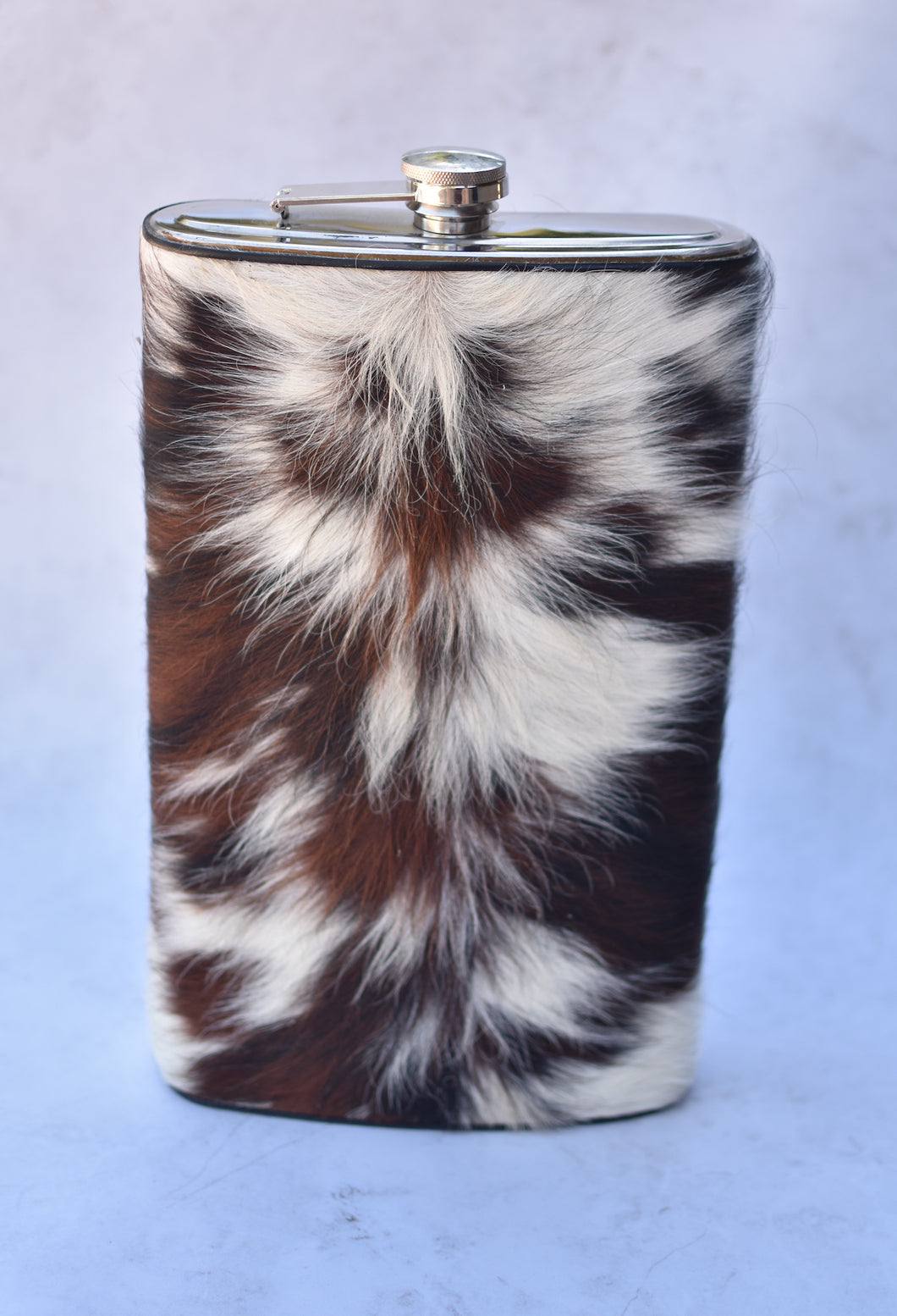 Brown, Black and White Gallon Flask