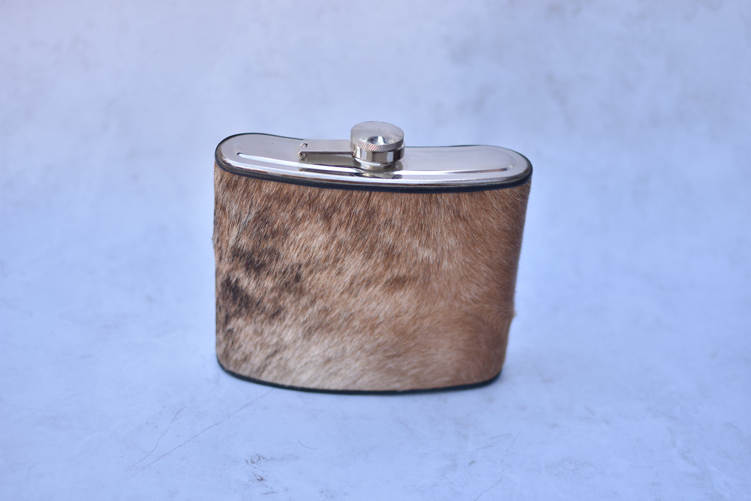 Light Brown Brindle Quart Flask