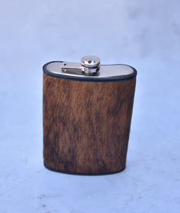 Brown Brindle 12oz Flask