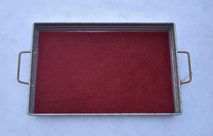 Red Hair on Hide Tray