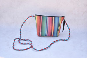 Serape Striped Crossbody Purse