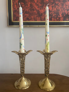 Fluted Brass Candlesticks