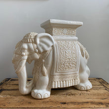 Load image into Gallery viewer, Vintage White Elephant Table