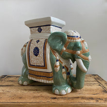 Load image into Gallery viewer, Vintage Green Elephant Table
