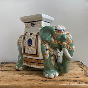 Vintage Green Elephant Table