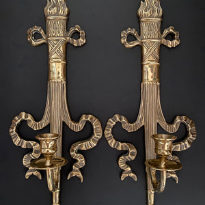 Brass Bow Wall Sconces
