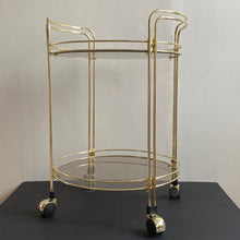 Load image into Gallery viewer, Brass Drinks Trolley