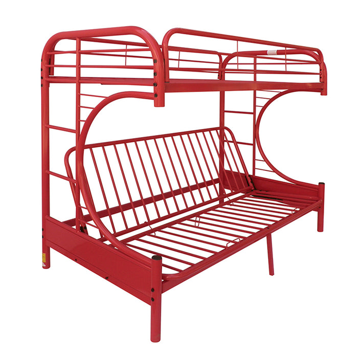 Eclipse Red Bunk Bed (Twin/Full/Futon)