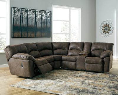 Tambo Signature Design by Ashley 2-Piece Reclining Sectional