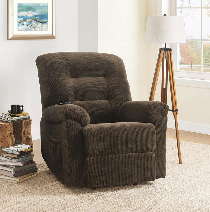 Chocolate Power Lift Recliner