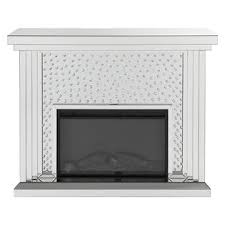 Acme Furniture Nysa Fireplace in Mirrored & Faux Crystals 90204 image