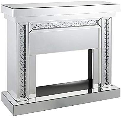 Acme Furniture Nysa Fireplace in Mirrored & Faux Crystals 90272 image