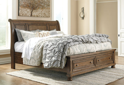 Flynnter Signature Design by Ashley Bed with 2 Storage Drawers