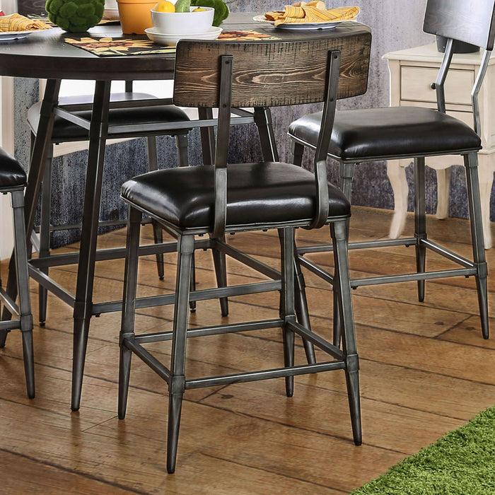 Mullane Weathered Gray/Black Counter Ht. Chair (2/CTN)
