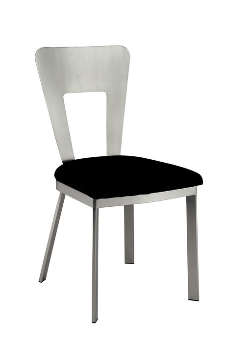 NOVA Silver/Black Side Chair (2/CTN)