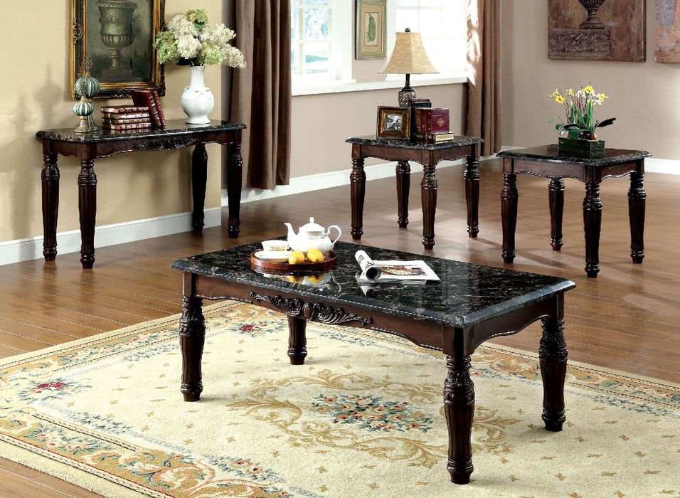 Brampton Espresso/Black 3 Pc. Table Set