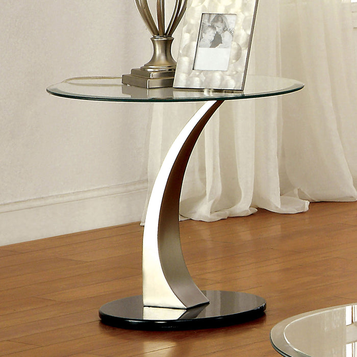 VALO Satin Plated/Black End Table