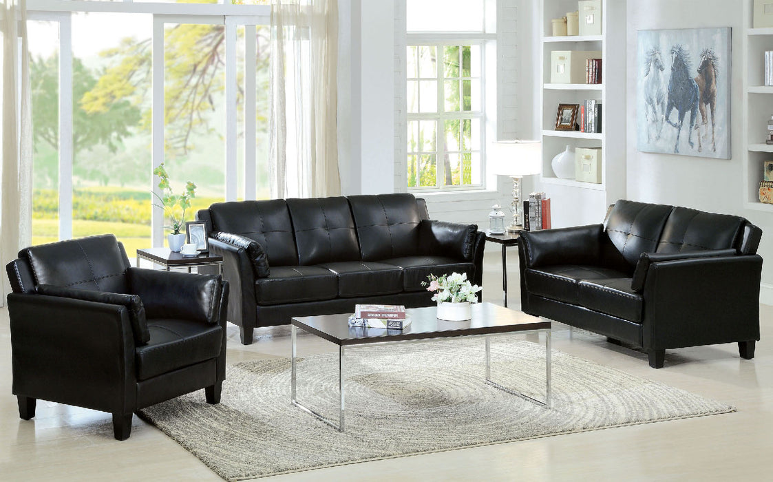 Pierre Black Sofa + Love Seat, Black
