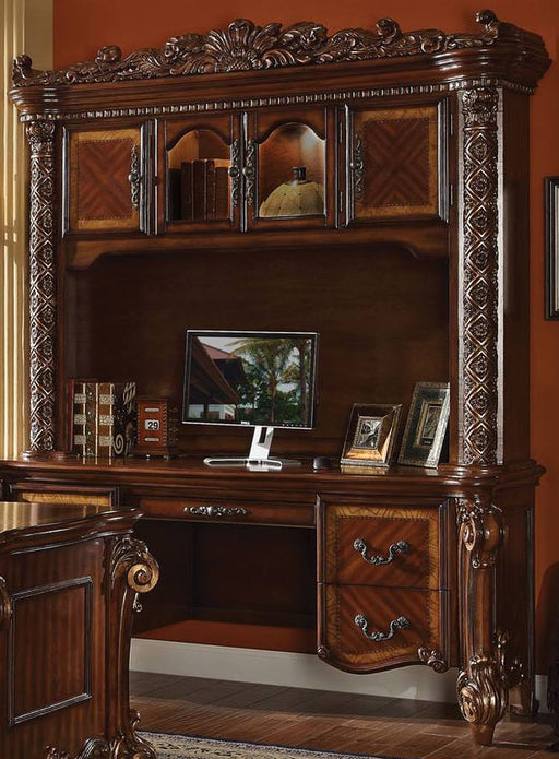 Acme Vendome Bookcase with Intricate Carving Design in Cherry 92128 image