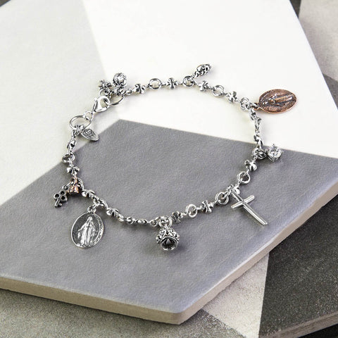 Sterling Silver Chapter Charm Bracelet (MZA006) by Gexist®