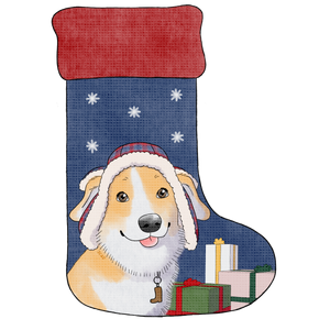 Bootsy Christmas Stocking Sticker - Bootsy The Corgi