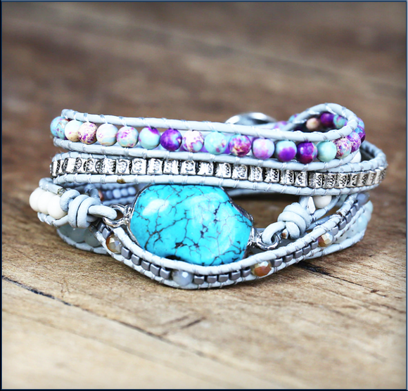 Diana Bishop Inspired Turquoise Wrap Bracelet