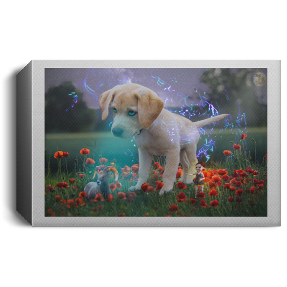 Magical Lab Pup -  Deluxe Landscape Canvas 1.5in Frame