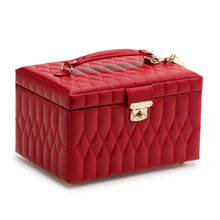 Load image into Gallery viewer, CAROLINE MEDIUM JEWELRY CASE/ RED