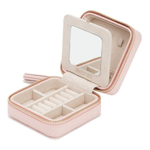 Load image into Gallery viewer, CAROLINE ZIP TRAVEL CASE/ ROSE QUARTZ