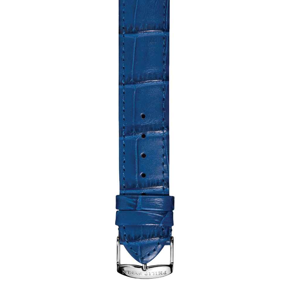 Royal Blue Calf Stitch Alligator Print Strap- CSTABL