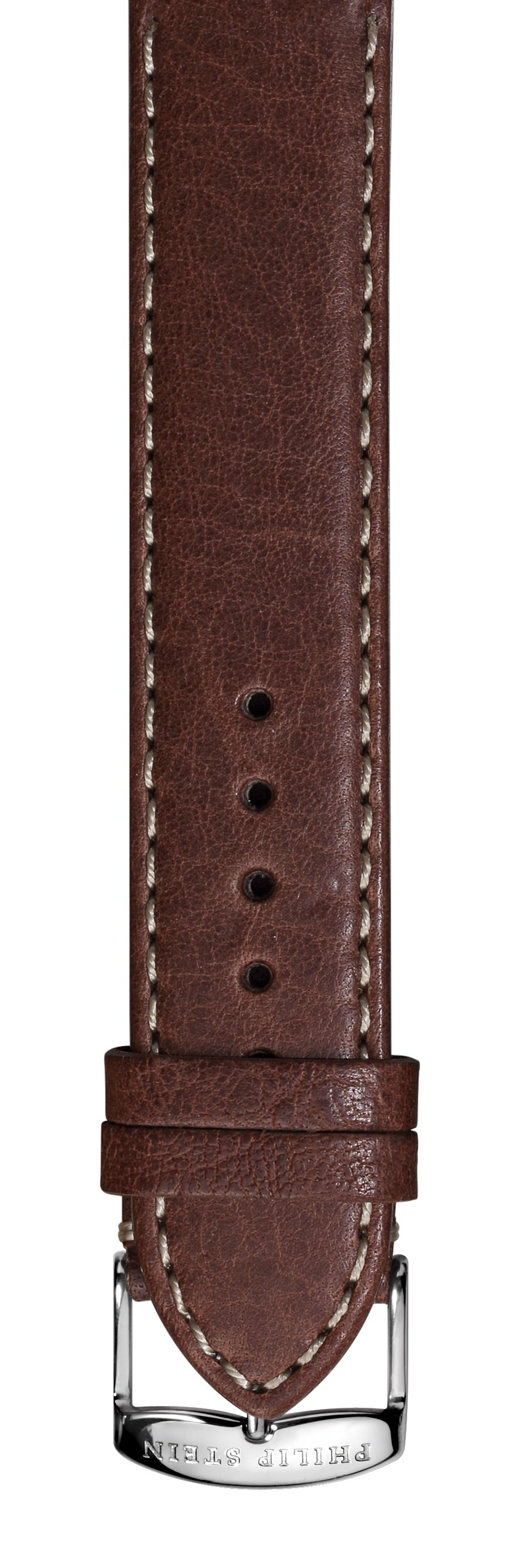 Dark Brown Stitch Calf Leather Strap- CSTDBR
